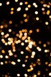 Flocons de Noël de lumière photographie stock