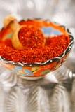 Flocons doux de piments de poivre d'Alep Photographie stock libre de droits