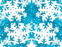 Flocos azuis Fotos de Stock Royalty Free