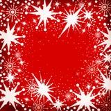 Flocos da neve do Natal Foto de Stock