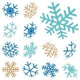 flocos da neve do Natal da coleção Imagem de Stock