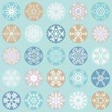 flocos da neve do Natal da coleção Foto de Stock