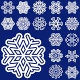 flocos da neve do Natal da coleção Imagens de Stock