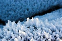 Flocos da neve e criação da geada foto de stock