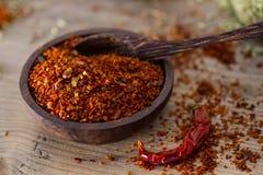Flocos da pimenta de pimentão Fotografia de Stock