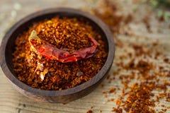 Flocos da pimenta de pimentão Fotos de Stock Royalty Free