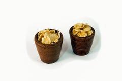 Flocos de milho Imagens de Stock