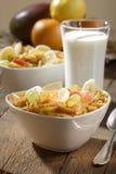 Flocos de milho com frutas fotos de stock