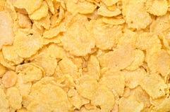 Flocos de milho como um fundo Fotografia de Stock Royalty Free