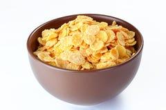 Flocos de milho no fundo branco Foto de Stock Royalty Free