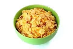 Flocos de milho no fundo branco Fotos de Stock