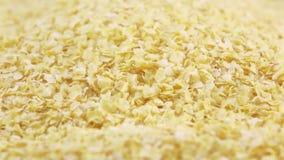 Flocos de milho wholegrain video estoque