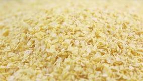 Flocos de milho wholegrain vídeos de arquivo