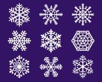 Flocos de neve foto de stock