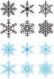 Flocos de neve Imagens de Stock