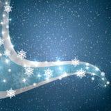 Flocos de neve abstratos do azul do inverno Imagem de Stock Royalty Free