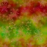 Flocos de neve abstratos no fundo colorido Vetor sem emenda Imagens de Stock Royalty Free