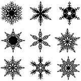 Flocos de neve ajustados Fotos de Stock