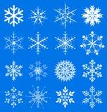 Flocos de neve ajustados  Imagem de Stock Royalty Free
