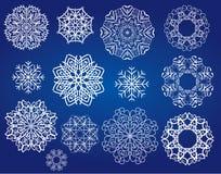 Flocos de neve ajustados Foto de Stock