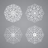 Flocos de neve ajustados Fotografia de Stock