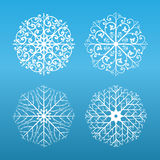 Flocos de neve ajustados Foto de Stock Royalty Free