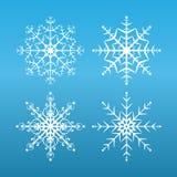 Flocos de neve ajustados Fotografia de Stock Royalty Free