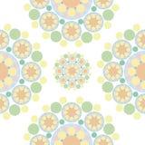 Flocos de neve alaranjados verdes da flor ilustração royalty free