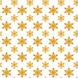 Flocos de neve amarelos para o Natal Fotografia de Stock
