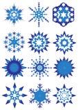 Flocos de neve azuis ilustração do vetor