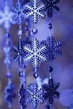 Flocos de neve azuis Foto de Stock Royalty Free