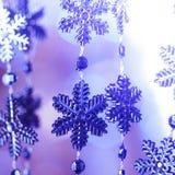 Flocos de neve azuis Imagens de Stock