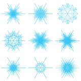 Flocos de neve azuis Fotografia de Stock