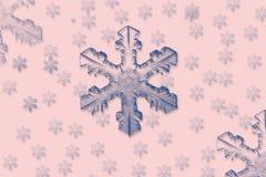 Flocos de neve azuis Fotografia de Stock Royalty Free