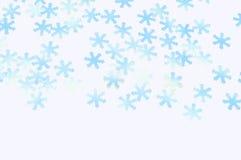 Flocos de neve azuis de brilho decorativos Fotos de Stock Royalty Free