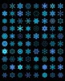 Flocos de neve azuis diferentes Fotos de Stock