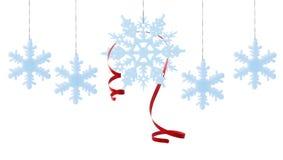 Flocos de neve azuis do inverno Imagens de Stock