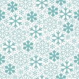 Flocos de neve azuis no fundo branco Teste padrão do vetor do Natal fotografia de stock royalty free