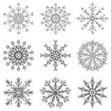 Flocos de neve bonitos do vetor imagens de stock royalty free