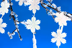 Flocos de neve brancos Fotografia de Stock