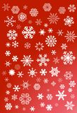 Flocos de neve brancos  ilustração do vetor