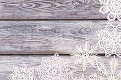 Flocos de neve brancos de formas diferentes Foto de Stock Royalty Free