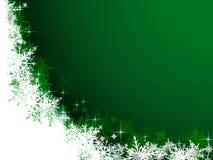Flocos de neve brancos encaracolado Imagem de Stock