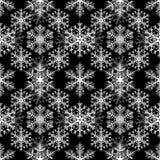 Flocos de neve brancos no fundo preto Teste padrão sem emenda do Natal ilustração do vetor