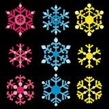Flocos de neve coloridos Imagem de Stock