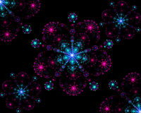 Flocos de neve coloridos simétricos do fractal abstrato Foto de Stock