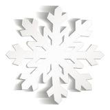 Flocos de neve cortados do papel Imagens de Stock