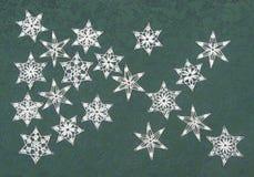 Flocos de neve Crocheted Imagem de Stock Royalty Free