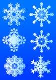 Flocos de neve da beleza Fotos de Stock Royalty Free