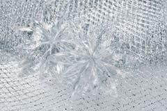 Flocos de neve das decorações do Natal Fotografia de Stock Royalty Free